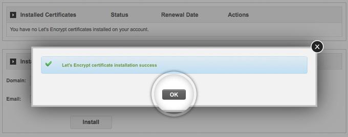Install Free SSL