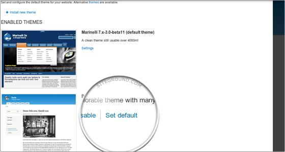 enable theme