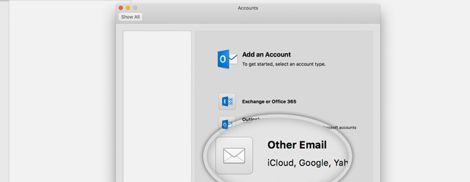 how to add google mail to outlook on mac
