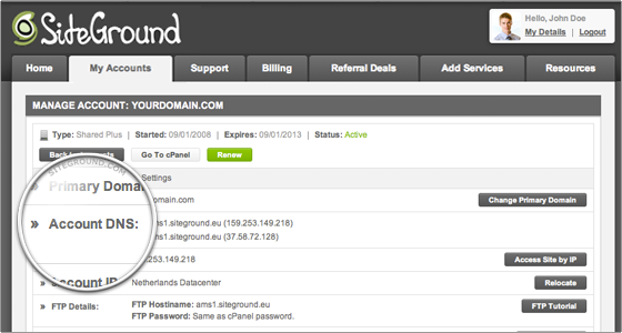 How To Point My Existing Domain Name To Siteground?