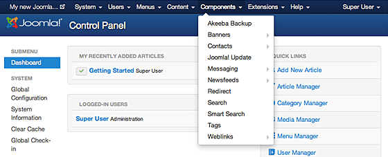joomla component page step by step tutorial