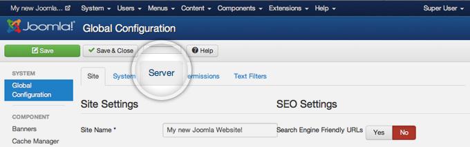 joomla how to change site icon