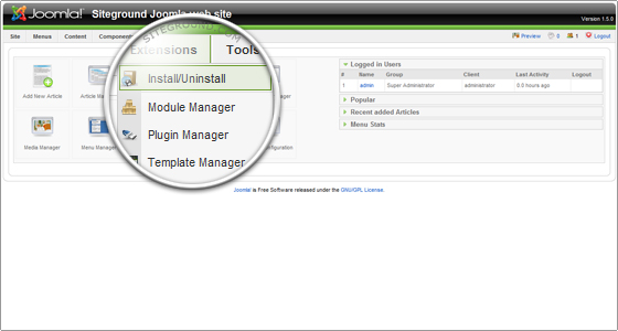 how to change a template in joomla and install joomla templates