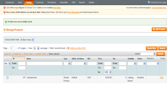 Magento tutorial step by step online learn magento online for Magento csv import template