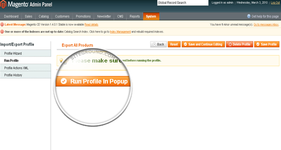 How do i import products to magento for Magento csv import template