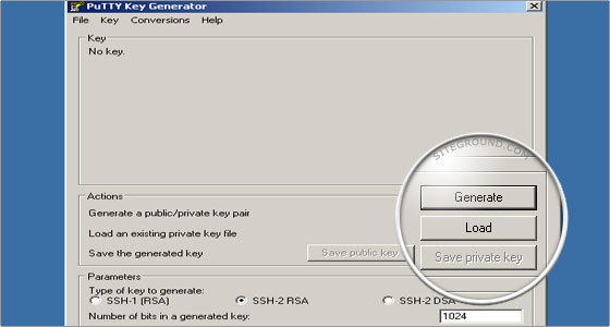 Select the private_key.ppk file that you have previously created with