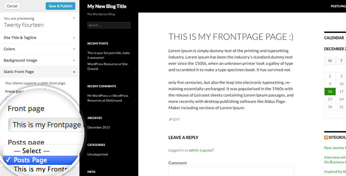 how to show latest posts on wordpress homepage