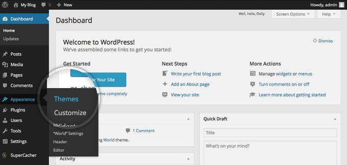 Free Wordpress Theme: How to install theme