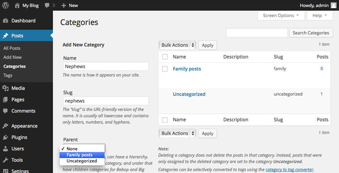 How To Assign Posts Categories