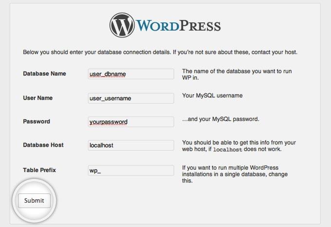 How to instal wordpress