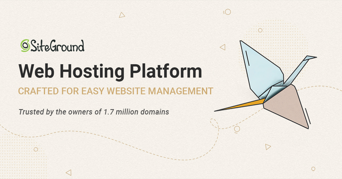 Web Hosting Services Crafted With Care Siteground