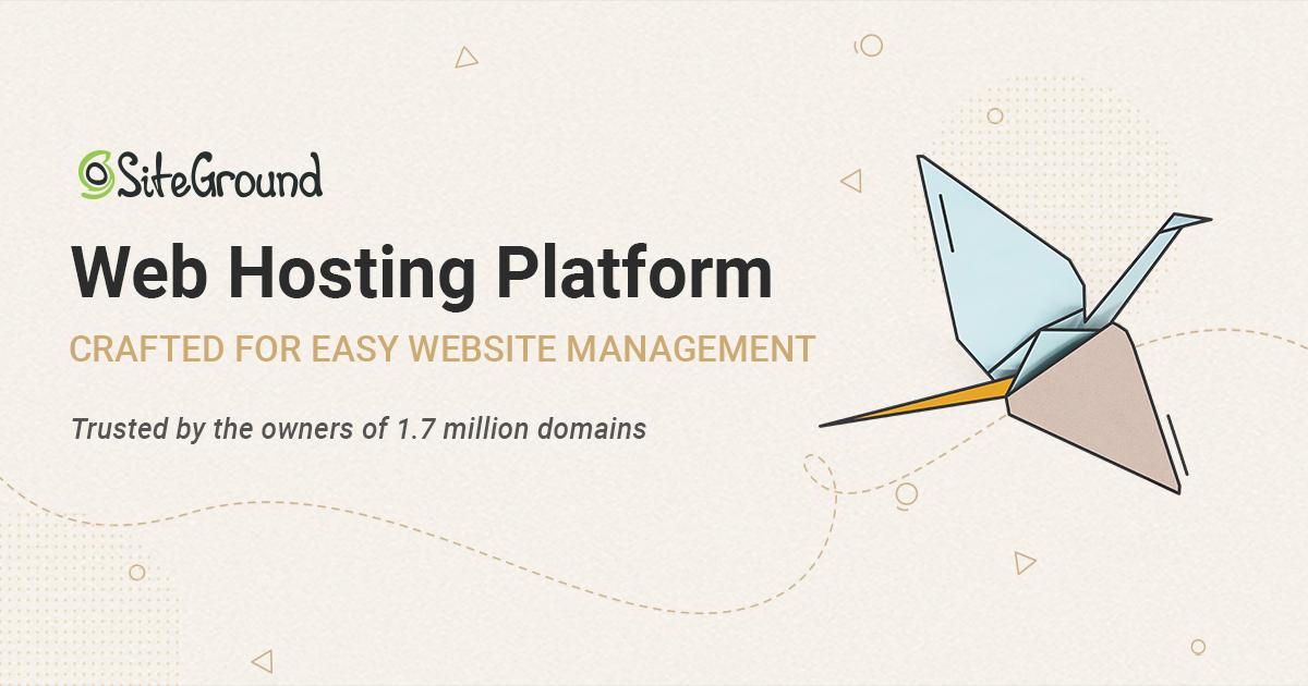 SiteGrounnd Web Hosting